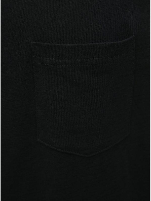Čierne tielko s náprsným vreckom Jack & Jones Wallet