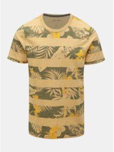 Zeleno–žlté vzorované tričko Jack & Jones Rise