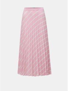 Ružová plisovaná sukňa Miss Selfridge