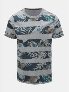Sivé vzorované tričko Jack & Jones Rise