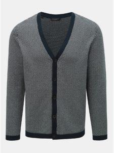 Sivo–modrý vzorovaný kardigán Selected Homme Jaz-Harring