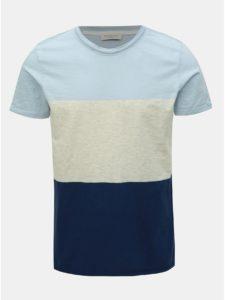 Krémovo–modré tričko Selected Homme Kiyoshi