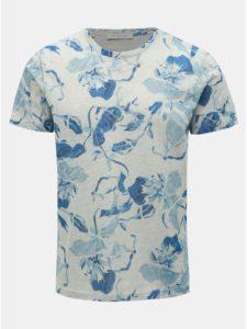 Modro–sivé kvetované tričko Selected Homme Matthew