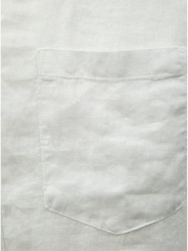 Biela ľanová slim fit košeľa ONLY & SONS Luke