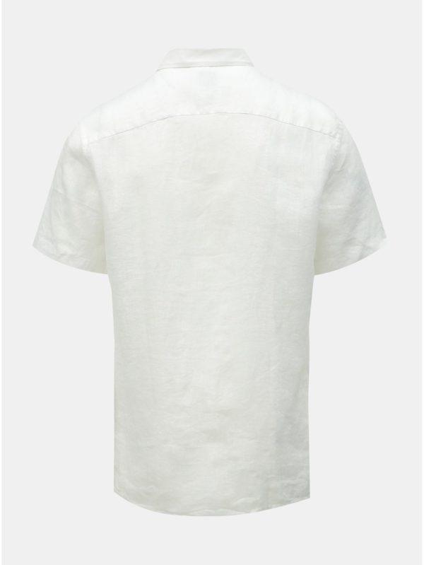 Biela ľanová košeľa ONLY & SONS Luke