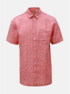 Červená ľanová košeľa ONLY & SONS Luke