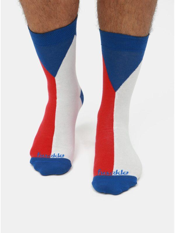 Bielo–modré ponožky Fusakle Vlajka
