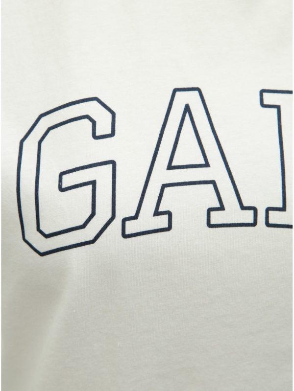 Biele dámske tričko s potlačou GANT
