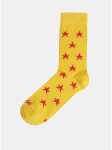 Žlté vzorované ponožky Fusakle Hviezda plážová