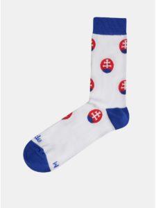 Biele vzorované ponožky Fusakle Guličkár