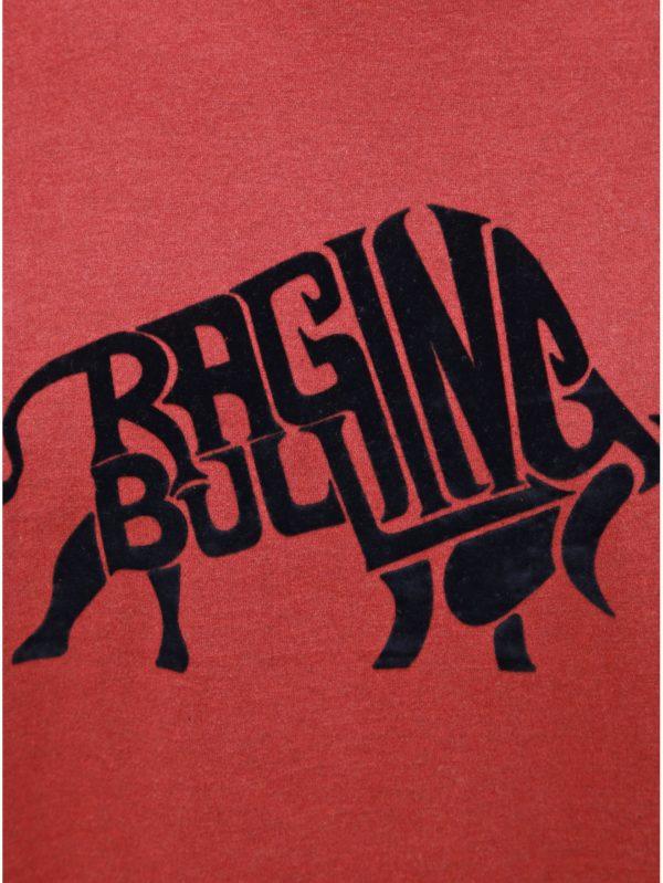 Červené tričko s krátkym rukávom Raging Bull