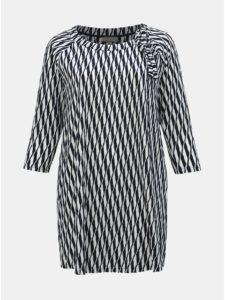 Bielo–modré pruhované šaty Ulla Popken