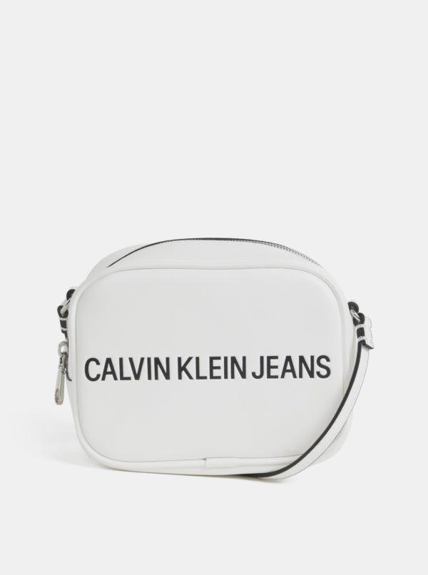 Biela crossbody kabelka Calvin Klein Jeans