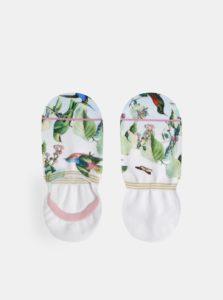 Biele dámske vzorované ponožky XPOOOS