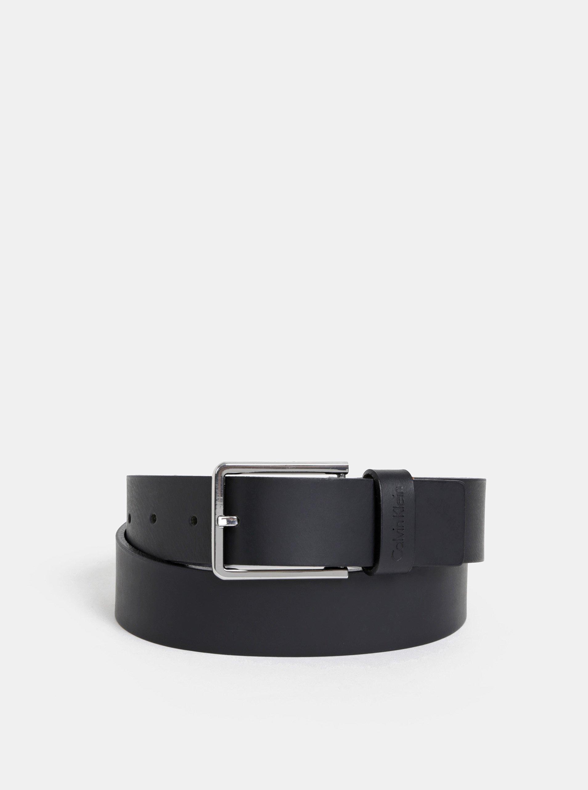 bc3ad9f9c8ff Čierny pánsky kožený opasok Calvin Klein Jeans
