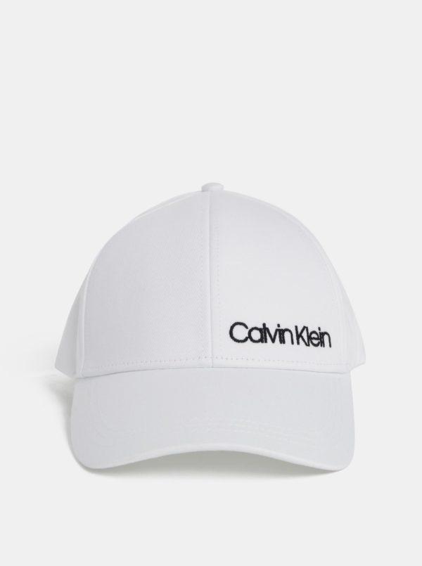 Biela šiltovka Calvin Klein Jeans