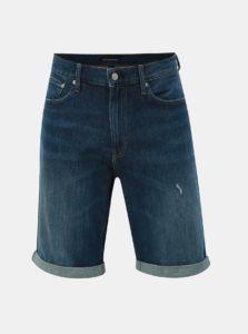 Modré pánske slim fit rifľové kraťasy Calvin Klein Jeans