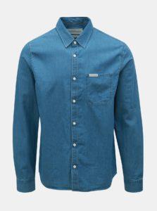 Modrá pánska rifľová regular fit košeľa Calvin Klein Jeans