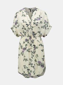 Krémové kvetované šaty VERO MODA Amsterdam