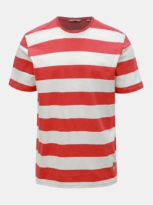 Bielo–červené pruhované tričko ONLY & SONS Patterson