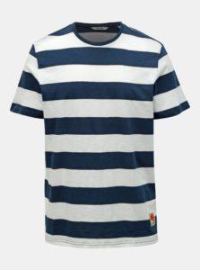 Bielo–modré pruhované tričko ONLY & SONS Patterson