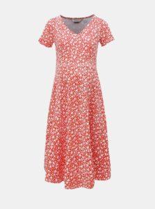 Červené tehotenské kvetované šaty Dorothy Perkins Maternity