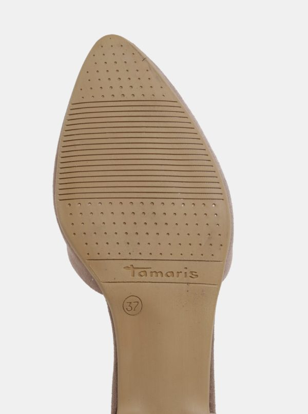 Béžové semišové lodičky Tamaris
