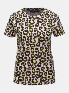 Ružové tričko s leopardím vzorom TALLY WEiJL