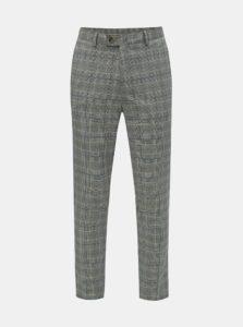 Sivé kockované nohavice Burton Menswear London