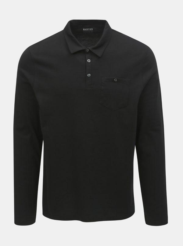 Balenie dvoch regular fit polokošieľ v čiernej a bielej farbe Burton Menswear London
