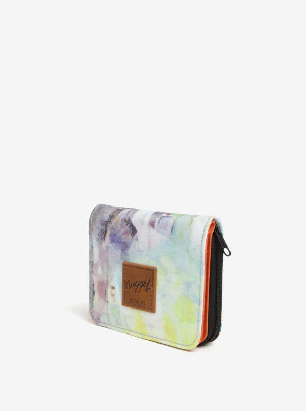 Krémová dámska vzorovaná peňaženka NUGGET Leticia
