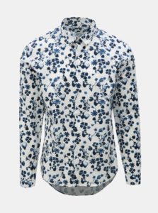 Biela kvetovaná košeľa Lindbergh