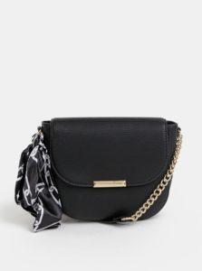 Čierna crossbody kabelka so šatkou ALDO