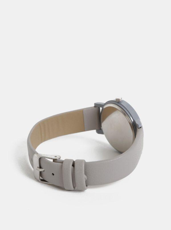 Dámske hodinky so svetlošedým remienkom Haily´s Sammy