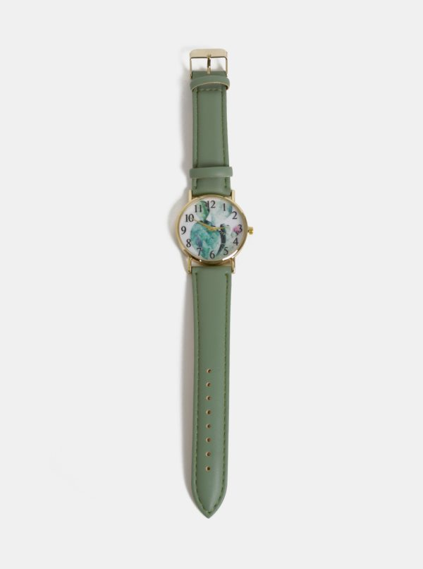 Dámske hodinky so zeleným remienkom Haily´s Lilly