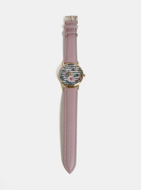 Dámske hodinky so starorúžovým remienkom Haily´s Lilly