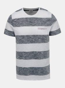 Šedo-biele pruhované tričko Jack & Jones Stray