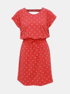 Červené bodkované šaty Jacqueline de Yong Billie