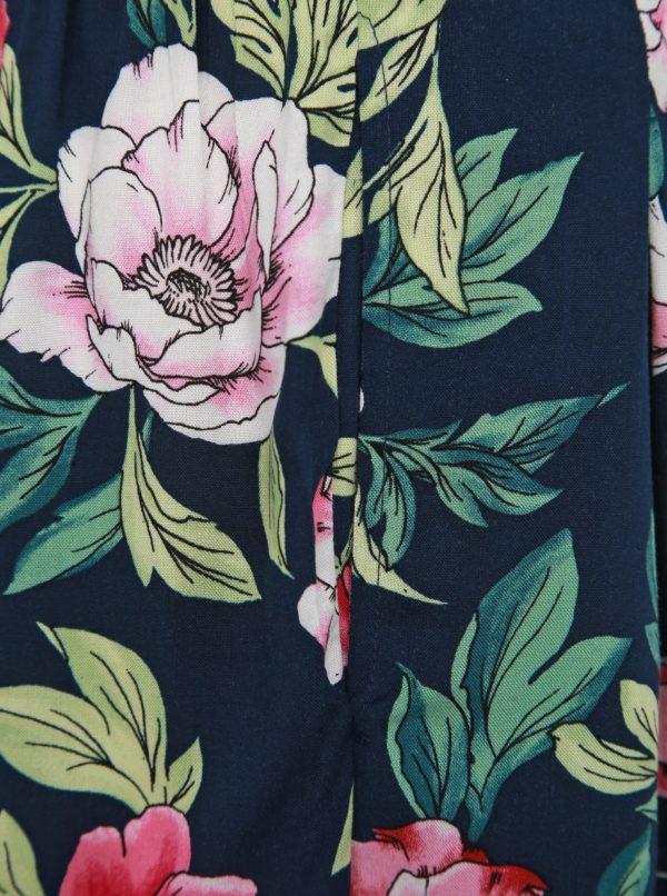 Tmavomodré kvetované culottes Jacqueline de Yong Star