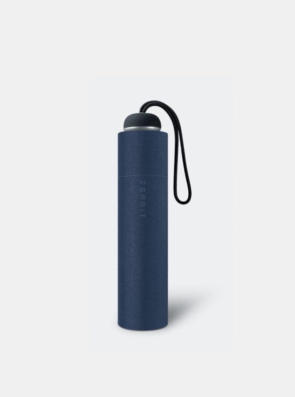Tmavomodrý skladací dáždnik Esprit Mini ALU