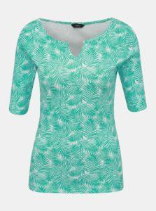 Tyrkysové dámske vzorované tričko M&Co
