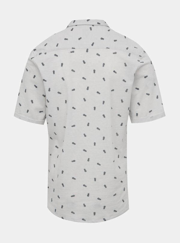 Biela vzorovaná slim fit košeľa ONLY & SONS Cuton