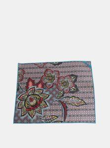 Červeno-modrý vzorovaný uterák na ruky prAna Maha