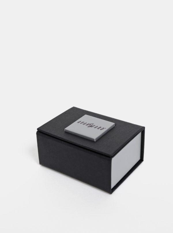 Manžetové gombíky v strieíbornej farbe Avantgard Premium