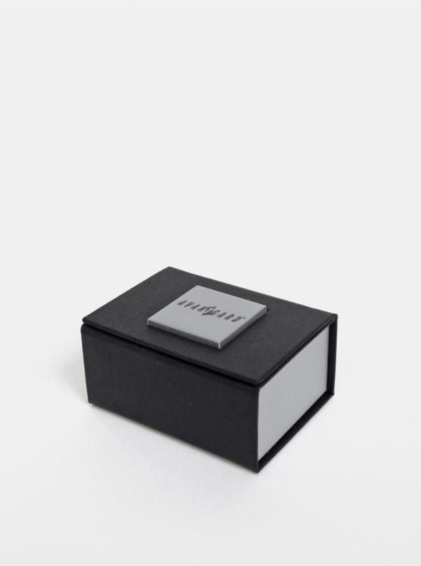 Manžetové gombíky v striebornej farbe Avantgard Lux