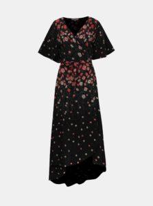 Čierne kvetované zavinovací maxišaty Apricot
