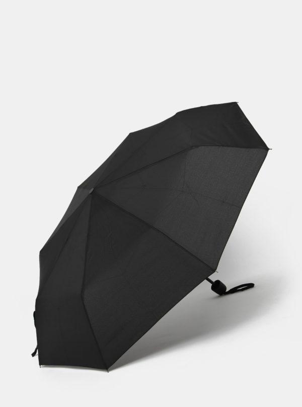 Čierny skládací dáždnik Derby Magit