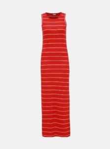 Červené pruhované rebrované maxišaty Jacqueline de Yong Nevada