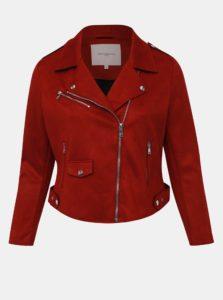 Červená bunda v semišovej úprave ONLY CARMAKOMA Carsherry