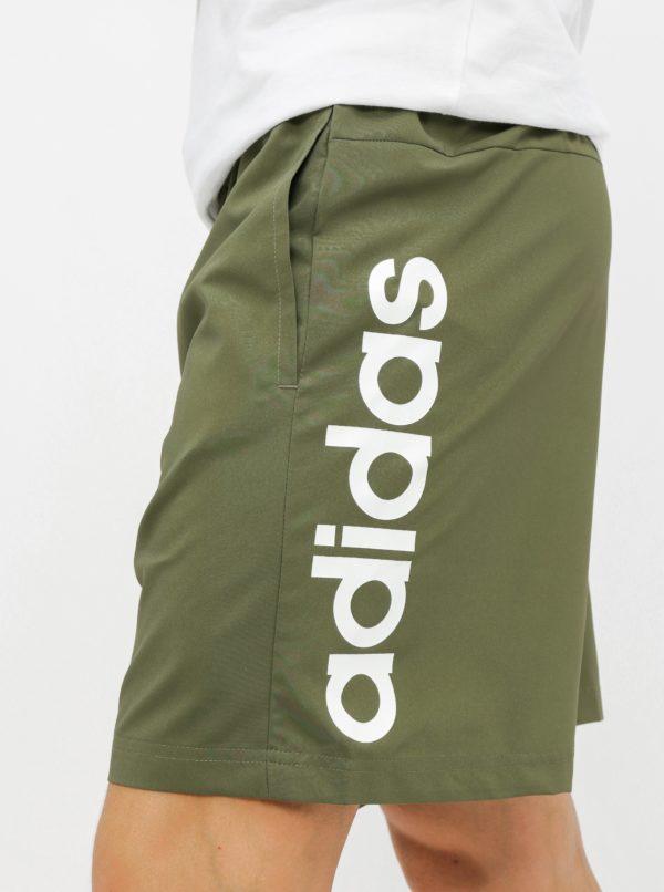 Kaki pánske kraťasy adidas CORE Lin
